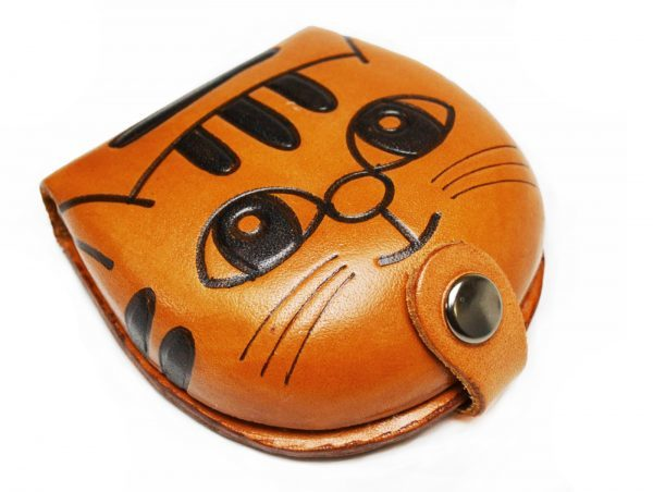 CAT HANDMADE GENUINE LEATHER ANIMAL COIN CASE/PURSE