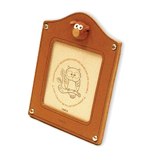 PIG LEATHER SQUARE PICTURE FRAME