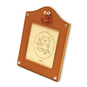 FROG LEATHER SQUARE PICTURE FRAME