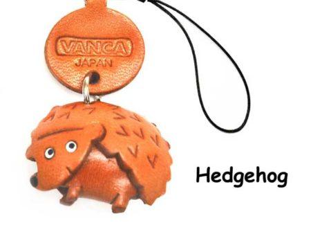 HEDGEHOG JAPANESE LEATHER CELLULARPHONE CHARM ANIMAL