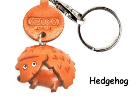 HEDGEHOG JAPANESE LEATHER KEYCHAINS ANIMAL