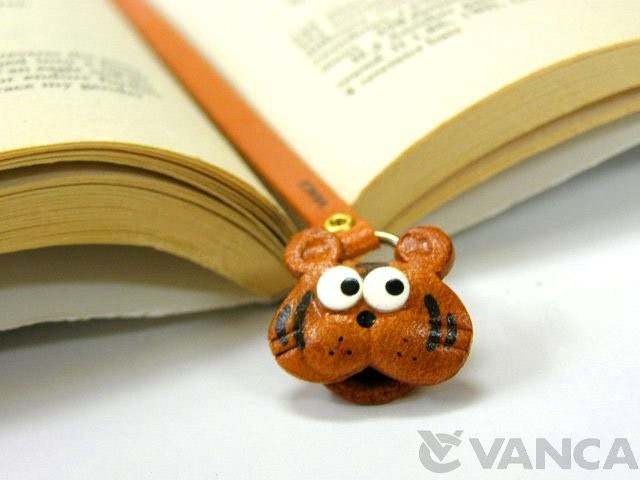 TIGER HANDMADE LEATHER ANIMAL BOOKMARK/BOOKMARKER