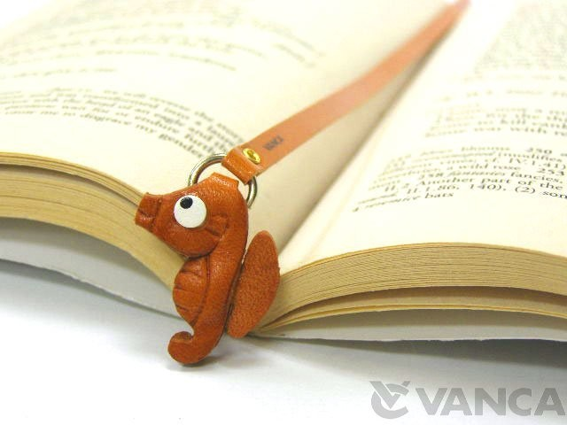SEA HORSE HANDMADE LEATHER BOOKMARK/BOOKMARKER
