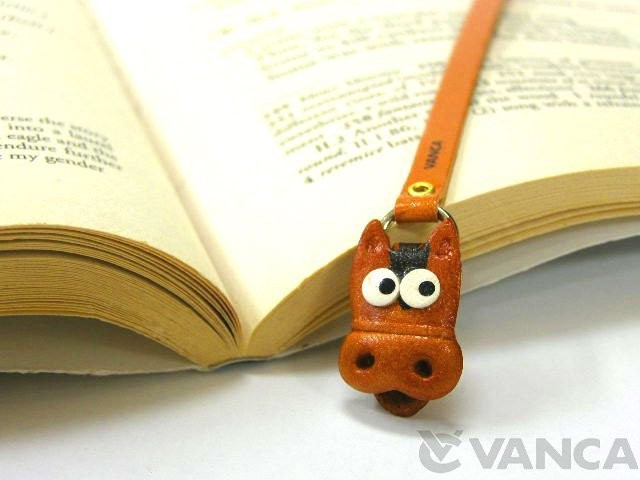 HORSE HANDMADE LEATHER ANIMAL BOOKMARK/BOOKMARKER