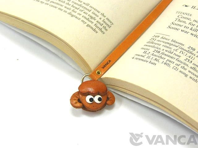 SHEEP HANDMADE LEATHER ANIMAL BOOKMARK/BOOKMARKER