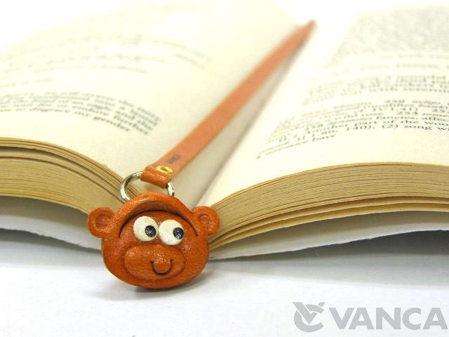 MONKEY HANDMADE LEATHER ANIMAL BOOKMARK/BOOKMARKER