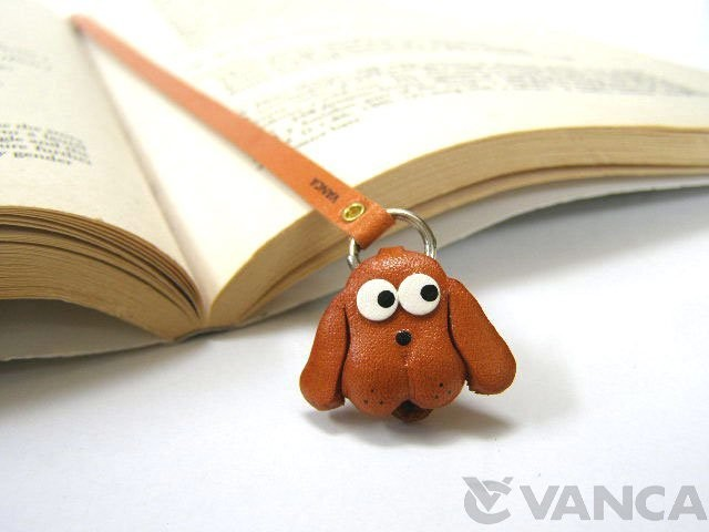 DOG HANDMADE LEATHER ANIMAL BOOKMARK/BOOKMARKER