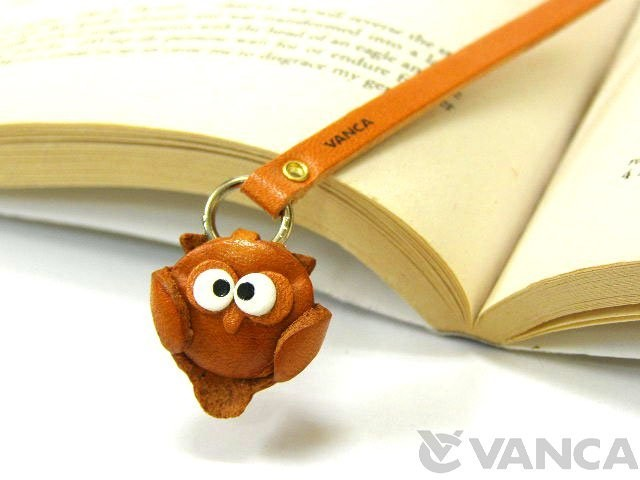 OWL LEATHER BOOKMARKER