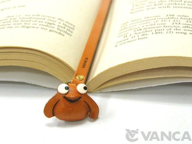 FROG HANDMADE LEATHER ANIMAL BOOKMARK/BOOKMARKER