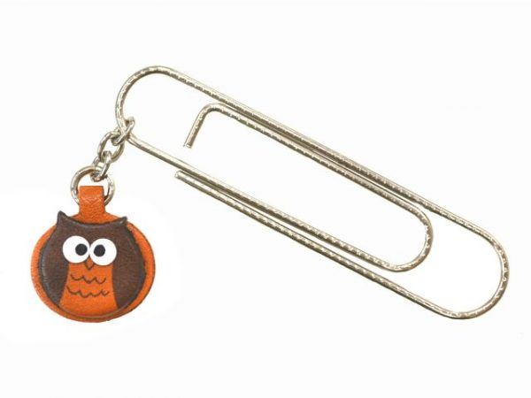 OWL ANIMAL LEATHER CHARM/PAPER CLIP