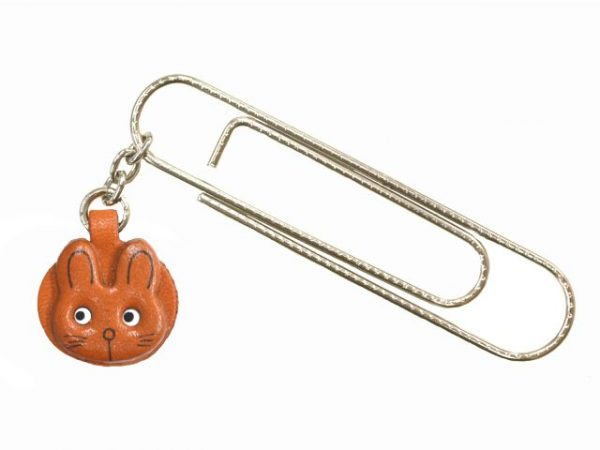 RABBIT ANIMAL LEATHER CHARM/PAPER CLIP