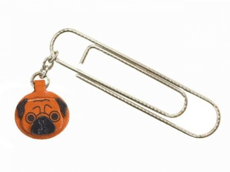 PUG DOG LEATHER CHARM/PAPER CLIP
