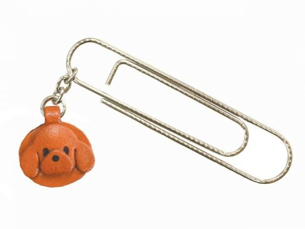 TOY POODLE DOG LEATHER CHARM/PAPER CLIP