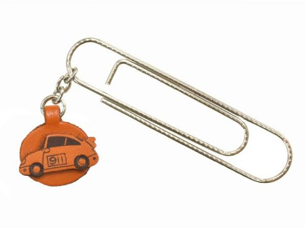 SPORTS CAR LEATHER CHARM/PAPER CLIP
