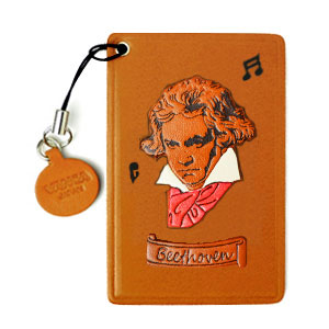 BEETHOVEN LEATHER COMMUTER PASS CASE/CARD HOLDERS