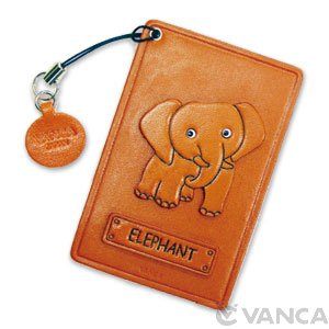 ELEPHANT LEATHER COMMUTER PASS CASE/CARD HOLDERS