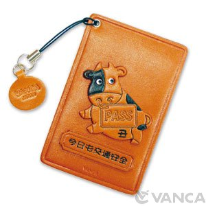ZODIAC/ COW LEATHER COMMUTER PASS/PASSCARD HOLDERS