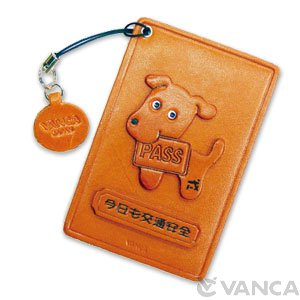ZODIAC/DOG LEATHER COMMUTER PASS/PASSCARD HOLDERS