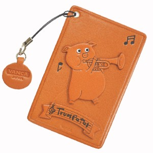 PIG WITH TRUMPET LEATHER COMMUTER PASS/PASSCARD HOLDERS