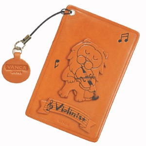 LION WITH VIOLON LEATHER COMMUTER PASS/PASSCARD HOLDERS
