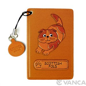 SCOTTISH FOLD LEATHER COMMUTER PASS/PASSCARD HOLDERS