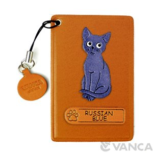 RUSSIAN BLUE LEATHER COMMUTER PASS/PASSCARD HOLDERS