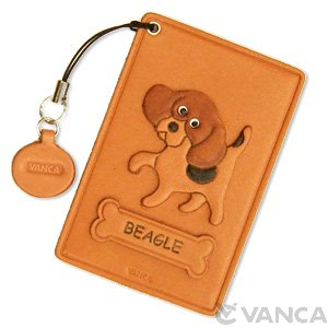 BEAGLE LEATHER COMMUTER PASS CASE/CARD HOLDERS