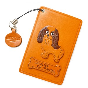 CAVALIER KC SPANIEL LEATHER COMMUTER PASS CASE/CARD HOLDERS