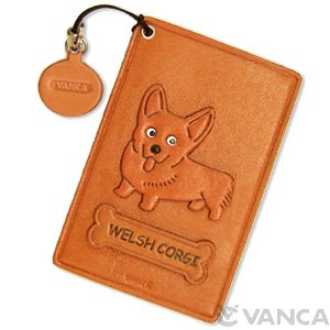 WELSH CORGI LEATHER COMMUTER PASS/PASSCARD HOLDERS