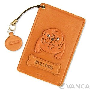 BULLDOG LEATHER COMMUTER PASS CASE/CARD HOLDERS