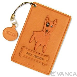 BULL TERRIER LEATHER COMMUTER PASS CASE/CARD HOLDERS