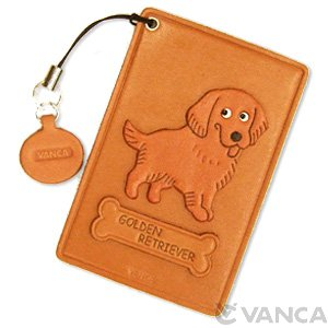 GOLDEN RETRIEVER LEATHER COMMUTER PASS/PASSCARD HOLDERS