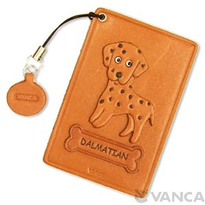 DALMATIAN LEATHER COMMUTER PASS CASE/CARD HOLDERS