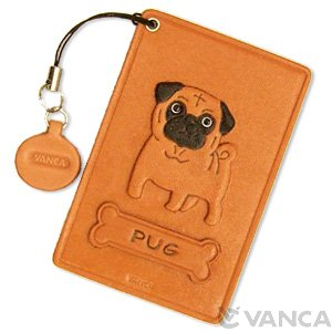 PUG LEATHER COMMUTER PASS/PASSCARD HOLDERS