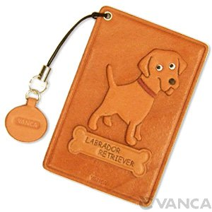 LABRADOR RETRIEVER LEATHER COMMUTER PASS/PASSCARD HOLDERS