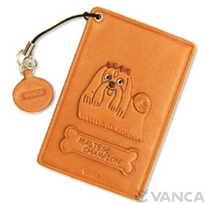 MALTESE CHAMPION DOG LEATHER COMMUTER PASS/PASSCARD HOLDERS