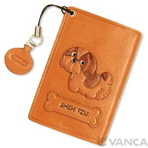 SHIH TZU LEATHER COMMUTER PASS/PASSCARD HOLDERS