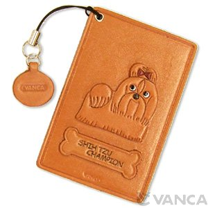 SHIH TZU CHAMPION DOG LEATHER COMMUTER PASS/PASSCARD HOLDERS