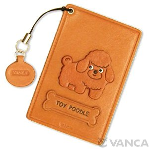 TOY POODLE LEATHER COMMUTER PASS/PASSCARD HOLDERS