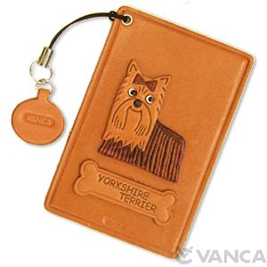 YORKSHIRE TERRIER -YORKIE- LEATHER COMMUTER PASS/PASSCARD HOLDERS