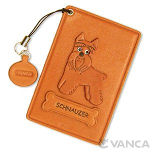 SCHNAUZER LEATHER COMMUTER PASS/PASSCARD HOLDERS