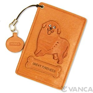GREAT PYRENEES LEATHER COMMUTER PASS/PASSCARD HOLDERS