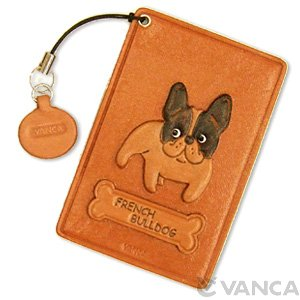 FRENCH BULLDOG LEATHER COMMUTER PASS/PASSCARD HOLDERS