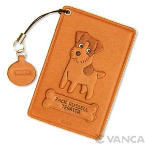 JACK RUSSELL TERRIER LEATHER COMMUTER PASS/PASSCARD HOLDERS