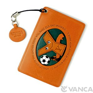 SOCCER-Y LEATHER COMMUTER PASS/PASSCARD HOLDERS