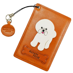 BICHON FRISE LEATHER COMMUTER PASS/PASSCARD HOLDERS
