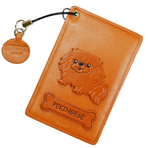 PEKINGESE LEATHER COMMUTER PASS/PASSCARD HOLDERS