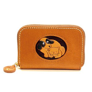 DOG&CAT GENUINE LEATHER ANIMAL BUSINESS CARD CASE