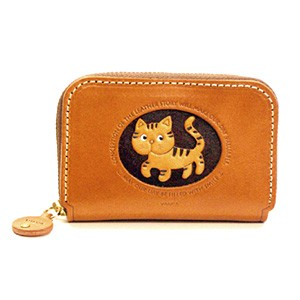CAT GENUINE LEATHER ANIMAL BUSINESS CARD CASE