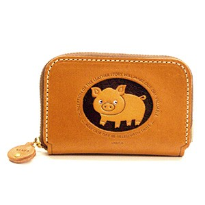 PIG GENUINE LEATHER ANIMAL BUSINESS CARD CASE